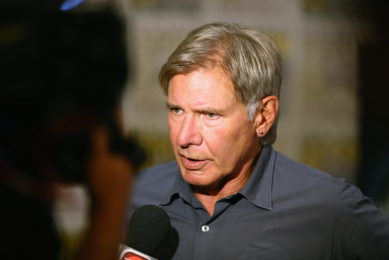 "SAN DIEGO, CA - JULY 18:  Actor Harrison Ford attends ""Ender's Game"" Comic-Con Press Line at San Diego Convention Center on July 18, 2013 in San Diego, California.  (Photo by Joe Scarnici/Getty Images for Summit Entertainment)"