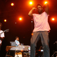 Kyp Malone and  Tunde Adebimpe of TV On The Radio performs during day one of San Diego Street Scene festival on September 19, 2008 in the East Village in San Diego, California.