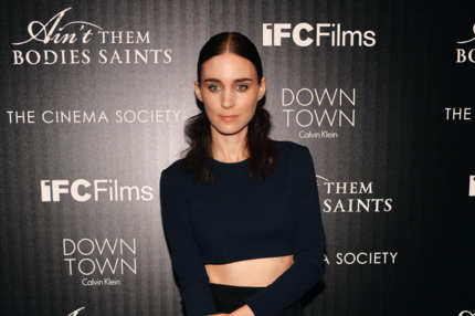 "Actress Rooney Mara attends the Downtown Calvin Klein with The Cinema Society screening of IFC Films' ""Ain't Them Bodies Saints"" at the Museum of Modern Art on August 13, 2013 in New York City."