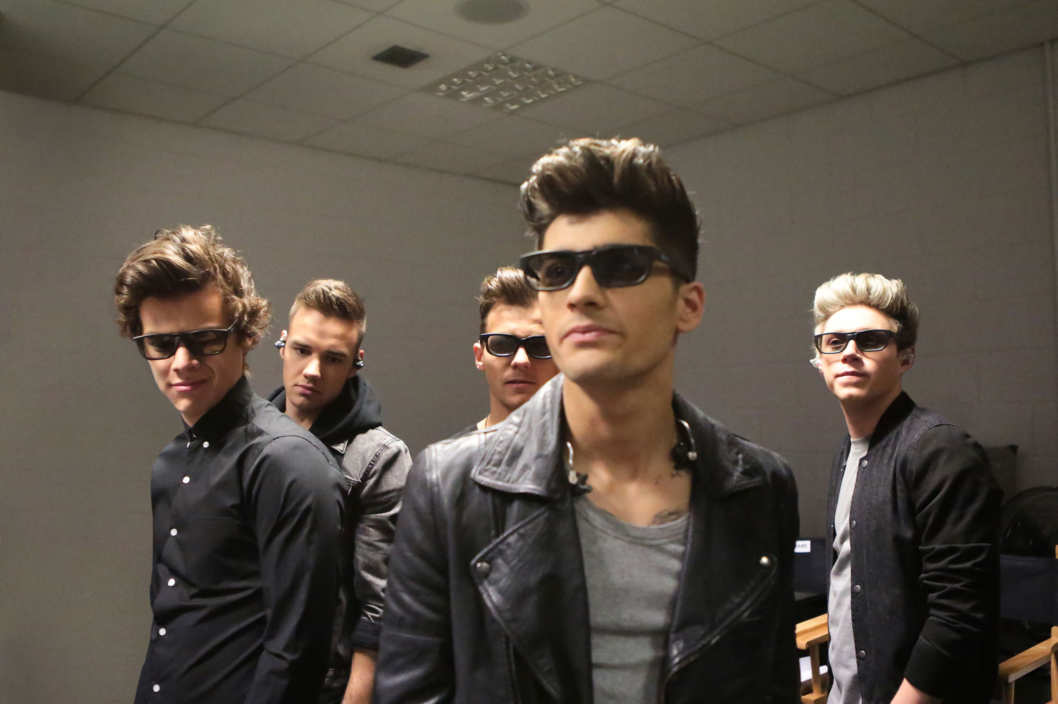 "L-r, Harry Styles, Liam Payne, Louis Tomlinson, Zayn Mailik and Naill Horan in TriStar Pictures' ""One Direction:This Is Us."""