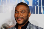 "Writer/producer/director/actor Tyler Perry arrives at a screening of Lionsgate Films' ""Tyler Perry's Madea's Big Happy Family"" at the Cinerama Dome Theater on April 19, 2011 in Los Angeles, California."