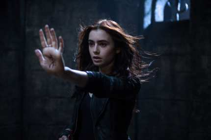 Clary Fray (Lily Collins) in MORTAL INSTRUMENTS: CITY OF BONES.