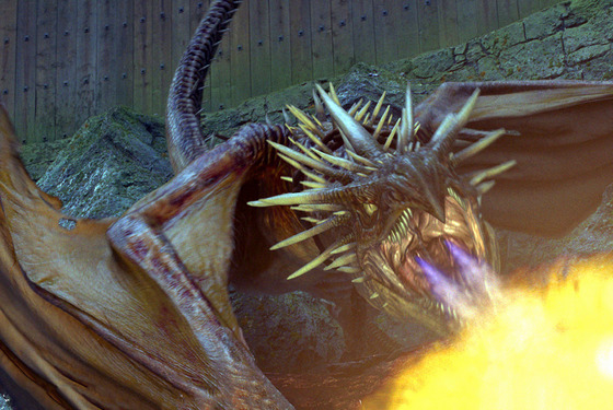 "The Hungarian Horntail Dragon in a scene from Warner Bros. Pictures' fantasy ""Harry Potter and the Goblet of Fire."" PHOTOGRAPHS TO BE USED SOLELY FOR ADVERTISING, PROMOTION, PUBLICITY OR REVIEWS OF THIS SPECIFIC MOTION PICTURE AND TO REMAIN THE PROPERTY OF THE STUDIO. NOT FOR SALE OR REDISTRIBUTION."