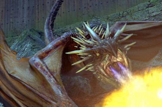 "The Hungarian Horntail Dragon in a scene from Warner Bros. Pictures' fantasy ""Harry Potter and the Goblet of Fire."