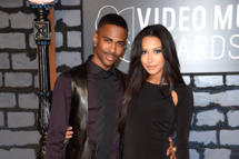 NEW YORK, NY - AUGUST 25:  Rapper Big Sean (L) and actress Naya Rivera attend the 2013 MTV Video Music Awards at the Barclays Center on August 25, 2013 in the Brooklyn borough of New York City.  (Photo by Dimitrios Kambouris/WireImage)