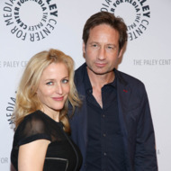 "NEW YORK, NY - OCTOBER 12:  David Duchovny and Gillian Anderson attend ""The Truth Is Here: David Duchovny And Gillian Anderson On The X-Files"" presented by the Paley Center For Media at Paley Center For Media on October 12, 2013 in New York City.  (Photo by Rob Kim/Getty Images)"
