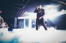 Kayne West performs