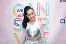 "HOLLYWOOD, CA - OCTOBER 23:  Katy Perry attends AMP 97.1 hosts a meet and greet with Katy Perry in celebration of her new album ""Prism"" at  on October 23, 2013 in Hollywood, California.  (Photo by Gabriel Olsen/FilmMagic)"