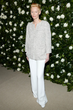 Tilda Swinton attends the Museum of Modern Art 2013 Film benefit: A Tribute To Tilda Swinton on November 5, 2013 in New York City.