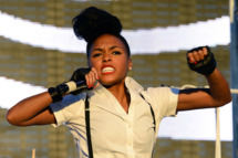 LAS VEGAS, NV - OCTOBER 27:  Recording artist Janelle Monae performs during the Life is Beautiful festival on October 27, 2013 in Las Vegas, Nevada.  (Photo by Ethan Miller/Getty Images)