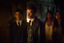 The Originals  -- Pictured (L-R): Daniel Gillies as Elijah, Joseph Morgan as Klaus, and Phoebe Tonkin as Hayley.