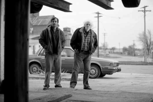 Will Forte is David Grant and Bruce Dern is Woody Grant in NEBRASKA