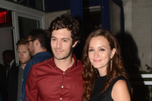 "NEW YORK, NY - SEPTEMBER 14:  Adam Brody and Leighton Meester attend The Cinema Society with The Hollywood Reporter & Samsung Galaxy S III host a screening of ""The Oranges"" After Party at Jimmy's at James Hotel on September 14, 2012 in New York City.  (Photo by Andrew H. Walker/Getty Images)"