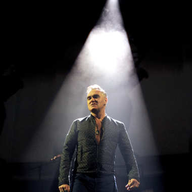 Singer Morrissey performs at The Staples Center on March 1, 2013 in Los Angeles, California.