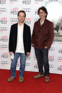 "Writer/director Ethan Coen (L) and writer/director Joel Coen attend the AFI FEST 2013 presented by Audi closing night gala screening of ""Inside Llewyn Davis"" at TCL Chinese Theatre on November 14, 2013 in Hollywood, California."