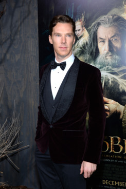 "HOLLYWOOD, CA - DECEMBER 02:  Actor Benedict Cumberbatch attends the premiere of Warner Bros' ""The Hobbit: The Desolation Of Smaug"" at TCL Chinese Theatre on December 2, 2013 in Hollywood, California.  (Photo by Mark Davis/Getty Images)"