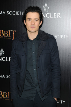 "NEW YORK, NY - DECEMBER 11:  Actor Orlando Bloom attends New Line Cinema and MGM Pictures' screening of ""The Hobbit: The Desolation of Smaug"" hosted by the Cinema Society and Moncler on December 11, 2013 in New York City.  (Photo by Jamie McCarthy/Getty Images)"