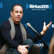 "NEW YORK, NY - DECEMBER 11:  Jerry Seinfeld visits SiriusXM's ""Success without Stress"" series hosted by Bob Roth, Executive Director, David Lynch Foundation at SiriusXM Studios on December 11, 2013 in New York City.  (Photo by Robin Marchant/Getty Images)"