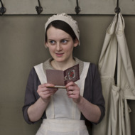 Downton Abbey, Season 4  Premieres Sunday, January 5, 2014 at 9pm ET on PBS  Shown: Sophie McShera as Daisy  © Nick Briggs/Carnival Film & Television Limited 2013 for MASTERPIECE This image may be used only in the direct promotion of MASTERPIECE CLASSIC. No other rights are granted. All rights are reserved. Editorial use only. USE ON THIRD PARTY SITES SUCH AS FACEBOOK AND TWITTER IS NOT ALLOWED.
