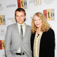 Ronan Farrow and his mother, actress Mia Farrow attend the Greater Talent Network's 30th anniversary at the Ambassadors River View at the United Nations on May 2, 2012 in New York City.
