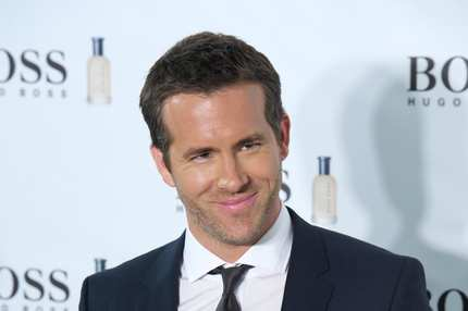 "MADRID, SPAIN - NOVEMBER 26:  Actor Ryan Reynolds attends the ""Boss Bottled"" 15th anniversary party at the Eurostar Hotel on November 26, 2013 in Madrid, Spain.  (Photo by Carlos Alvarez/Getty Images)"