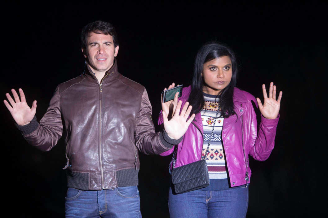 "THE MINDY PROJECT:  Mindy (Mindy Kaling, R) and Danny (Chris Messina, L) run into trouble, in the ""The Desert"" episode of THE MINDY PROJECT airing Tuesday, Jan. 21 (9:30-10:00 PM ET/PT) on FOX.  ©2013 Fox Broadcasting Co."