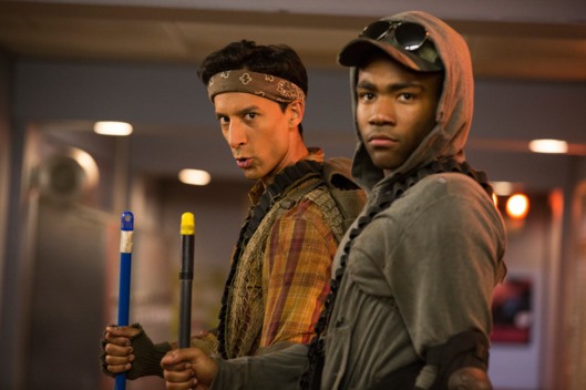 "COMMUNITY -- ""Geothermal Escapism"" Episode 504 -- Pictured: (l-r) Danny Pudi as Abed, Donald Glover as Troy."
