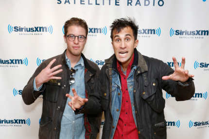 Filmmakers Henry Joost and Ariel Schulman visit the SiriusXM Studio on October 23, 2012 in New York City.
