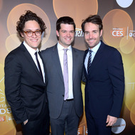 LAS VEGAS, NV - JANUARY 09:  (L-R) Writer/producer Phil Lord, writer/producer Chris Miller and honoree Will Forte attend the Variety Breakthrough of the Year Awards during the 2014 International CES at The Las Vegas Hotel & Casino on January 9, 2014 in Las Vegas, Nevada.  (Photo by Bryan Steffy/Getty Images for Variety)
