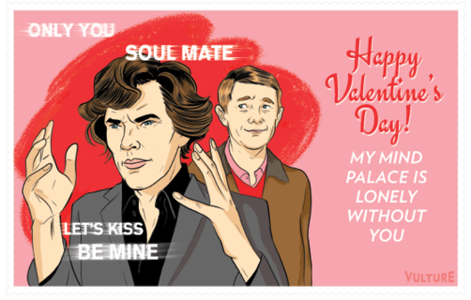 Send a Sherlock Watson Valentines Day Card Vulture – Send a Valentines Card