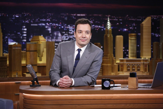 THE TONIGHT SHOW STARRING JIMMY FALLON -- Episode 0001 -- Pictured: Host Jimmy Fallon on February 17, 2014 -- (Photo by: Lloyd Bishop/NBC/NBCU Photo Bank)