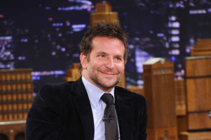 "NEW YORK, NY - FEBRUARY 19:  Bradley Cooper visits ""The Tonight Show Starring Jimmy Fallon"" at Rockefeller Center on February 19, 2014 in New York City.  (Photo by Jamie McCarthy/Getty Images for The Tonight Show Starring Jimmy Fallon)"