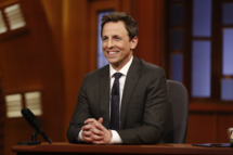 LATE NIGHT WITH SETH MEYERS -- Episode 0001 -- Pictured: Host Seth Meyers on February 24, 2014 -- (Photo by: Peter Kramer/NBC/NBCU Photo Bank)