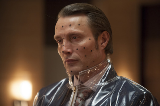 "HANNIBAL -- ""Buffet Froid"" Episode 110 -- Pictured: Mads Mikkelsen as Dr. Hannibal Lecter -- (Photo by: Brooke Palmer/NBC)"