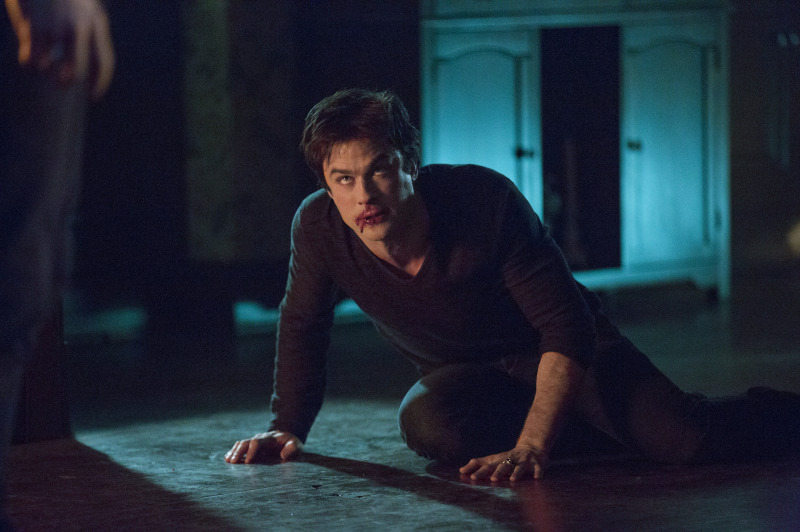 "The Vampire Diaries -- ""No Exit"" -- Image Number: VD514a_0075.jpg -- Pictured: Ian Somerhalder as Damon -- Photo: Bob Mahoney/The CW -- © 2014 The CW Network, LLC. All rights reserved"