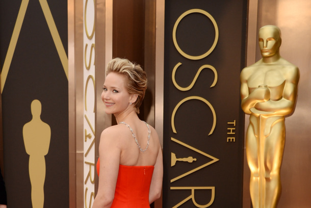 HOLLYWOOD, CA - MARCH 02:  Actress Jennifer Lawrence attends the Oscars held at Hollywood & Highland Center on March 2, 2014 in Hollywood, California.  (Photo by Jason Merritt/Getty Images)