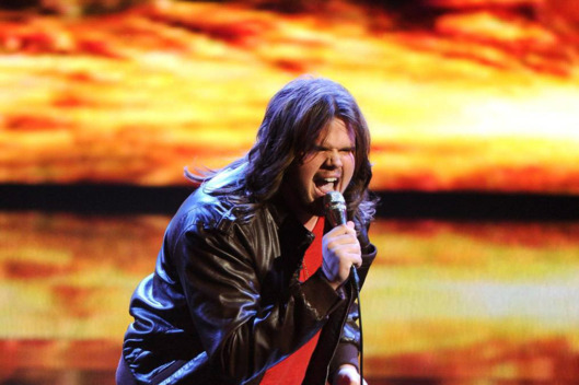 Caleb Johnson performs on AMERICAN IDOL XIII