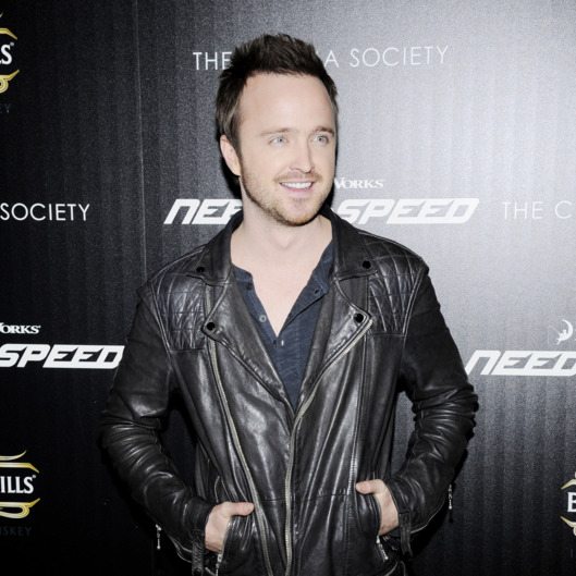 "Aaron Paul==The Cinema Society & Bushmill's host a screening of DreamWorks Pictures' ""Need for Speed""==Tribeca Grand Hotel, NYC==March 11, 2014==?Patrick McMullan==Photo - Nicholas Hunt / patrickmcmullan.com===="
