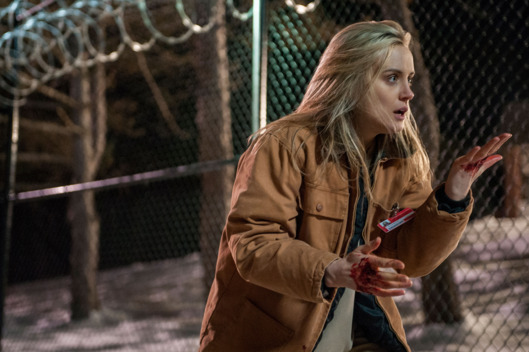 "Taylor Schilling in a scene from Netflix's ""Orange is the New Black"" Season 2. Photo credit: Jessica Miglio for Netflix."