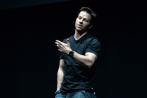 Actor Mark Wahlberg speaks onstage during CinemaCon 2014 Off and Running: Opening Night Studio Presentation from Paramount Pictures at Caesars Palace during CinemaCon 2014 on March 24, 2014 in Las Vegas, Nevada.