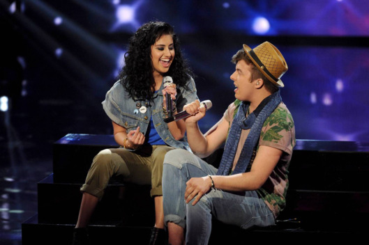 Jena Irene and Alex Preston perform on AMERICAN IDOL XIII