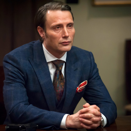 "HANNIBAL -- ""Roti"" Episode 111 -- Pictured: Mads Mikkelsen as Dr. Hannibal Lecter -- (Photo by: Brooke Palmer/NBC)"