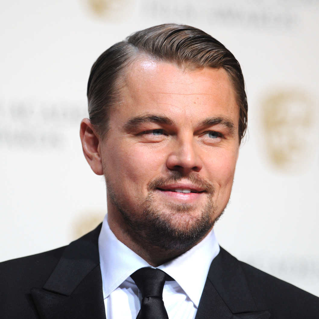 US actor Leonardo DiCaprio poses after presenting an award at the BAFTA British Academy Film Awards at the Royal Opera House in London on February 16, 2014.