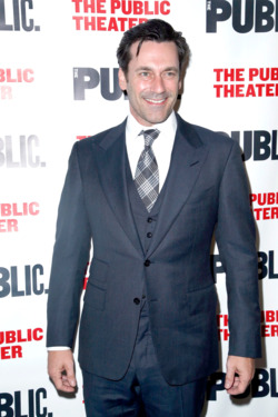 Jon Hamm==THE PUBLIC THEATER Opening Night Celebration of THE LIBRARY==The Public Theater, New York==April 15, 2014==©Patrick McMullan==Photo-JIMI CELESTE/patrickmcmullan.com==