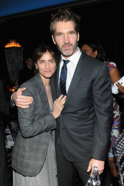 "Amanda Peet and executive producer David Benioff  attend ""Game Of Thrones"" Season 4 New York Premiere After Party at Avery Fisher Hall, Lincoln Center on March 18, 2014 in New York City.  (Photo by Jamie McCarthy/Getty Images)"