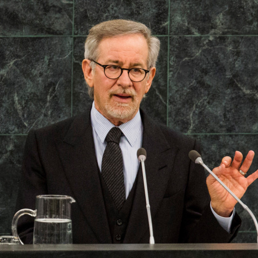 Academy Award winning film maker Steven Spielberg speaks during a Memorial Ceremony to mark the International Day of Commemoration in Memory of the Victims of the Holocaust at the United Nations on January 27, 2014 in New York City.