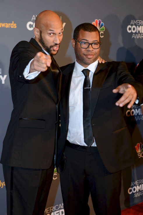 NEW YORK, UNITED STATES - APRIL 27:  Comedian Keegan-Michael Key (L) and Jordan Peele attend 2014 American Comedy Awards at Hammerstein Ballroom in New York, United States on 26 April, 2014. (Photo by Cem Ozdel/Anadolu Agency/Getty Images)