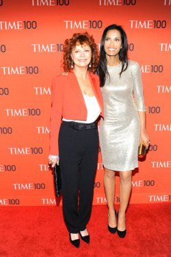 Susan Sarandon, Padma Lakshmi==TIME 100 Gala, TIME's 100 Most Influential People in the World==Jazz at Lincoln Center, NYC==April 29, 2014==©Patrick McMullan==Photo - Paul Bruinooge/PatrickMcMullan.com====