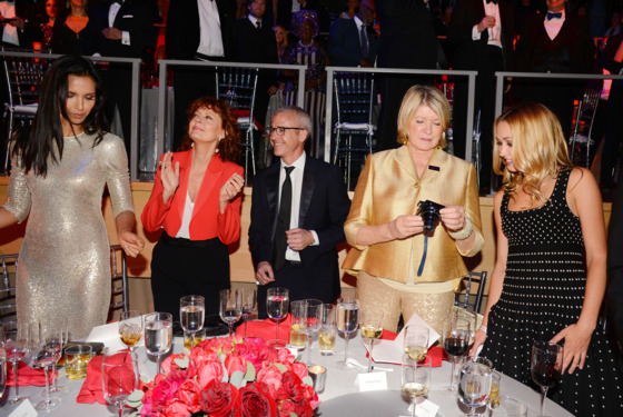 Padma Lakshmi, Susan Sarandon, Jess Cagle, Martha Stewart, Kate Greer== TIME 100 Gala, TIME's 100 Most Influential People in the World== Jazz at Lincoln Center, NYC.== April 29, 2014== ©Patrick McMullan== Photo - Patrick McMullan/PatrickMcMullan.com== ==