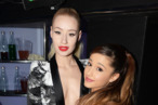 AMSTERDAM, NETHERLANDS - NOVEMBER 10:  (EXCLUSIVE COVERAGE)  (L-R) Iggy Azalea and Ariana Grande pose in the VIP Glamour Pit during the MTV EMA's 2013 at the Ziggo Dome on November 10, 2013 in Amsterdam, Netherlands.  (Photo by Dave Hogan/MTV 2013/Getty Images for MTV)
